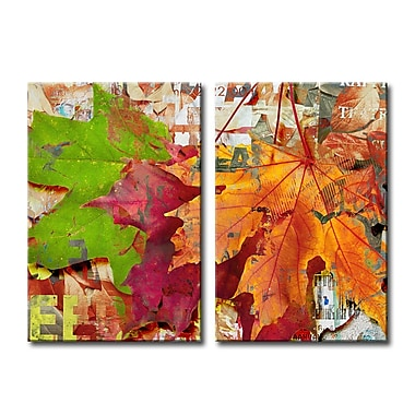 Ready2hangart Fall Ink XVIII 2 Piece Graphic Art on Wrapped Canvas Set; 30'' H x 20'' W x 1.5'' D