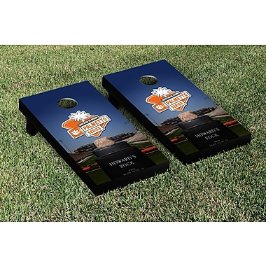 Victory Tailgate NCAA Clemson Tigers Palmetto Series Version Cornhole Game Set
