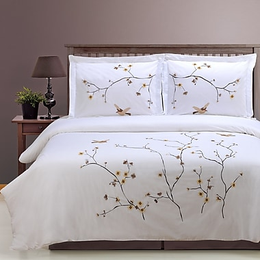 Simple Luxury Impressions 3 Piece Duvet Cover Set; King/Cal. King