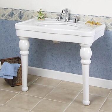 Barclay Versailles Ceramic 36'' Console Bathroom Sink w/ Overflow; 42''