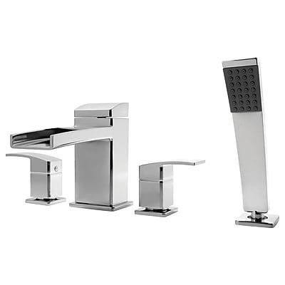 Pfister Kenzo Roman Tub and Shower Faucet Trim w/ Lever Handles; Polished Chrome