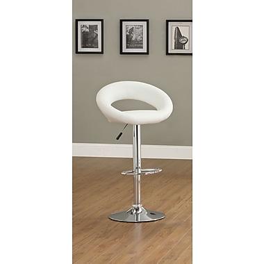 Hokku Designs Theory Adjustable Height Swivel Bar Stool (Set of 2); White