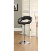 Hokku Designs Theory Adjustable Height Swivel Bar Stool (Set of 2); Black