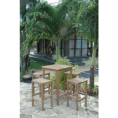 Anderson Teak Avalon 5 Piece Bar Height Dining Set