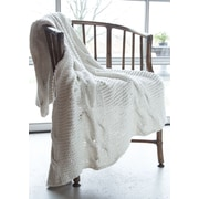 A Soft Idea Chunky Cotton Hand Knit Double Cable Throw
