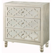 Crestview Newcastle 3 Drawer Chest; Silver Leaf