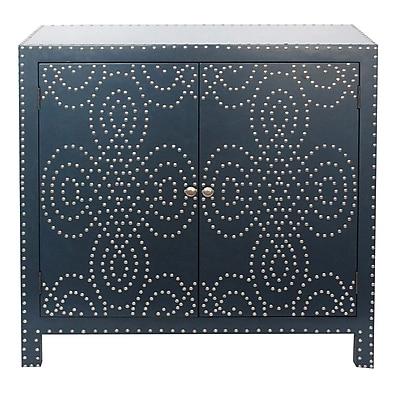 Crestview Indigo 2 Door Cabinet w/ Nailhead WYF078276886570