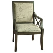 Crestview Driftwood French Script X-Arm Chair