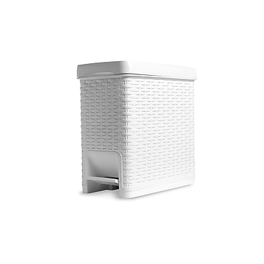 Superior Performance 1.63 Gallon Step-On Trash Can; White