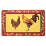 Stephan Roberts Home Red Rooster Kitchen Mat