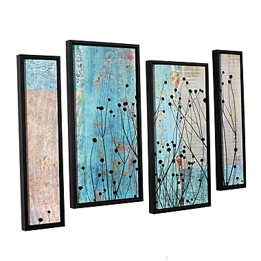 ArtWall 'Dark Silhouette III' by Cora Niele 4 Piece Framed Graphic Art on Wrapped Canvas Set