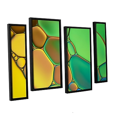 ArtWall 'Stained Glass III' by Cora Niele 4 Piece Framed Graphic Art on Canvas Set