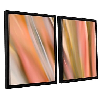ArtWall 'Abstract Barcode' by Cora Niele 2 Piece Framed Graphic Art on Canvas Set