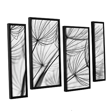 ArtWall 'Parachute Seed II' by Cora Niele 4 Piece Framed Graphic Art on Canvas Set