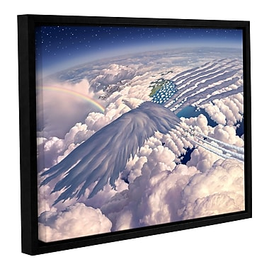 ArtWall 'Onward' by Jerry Lofaro Framed Graphic Art on Wrapped Canvas; 18'' H x 24'' W