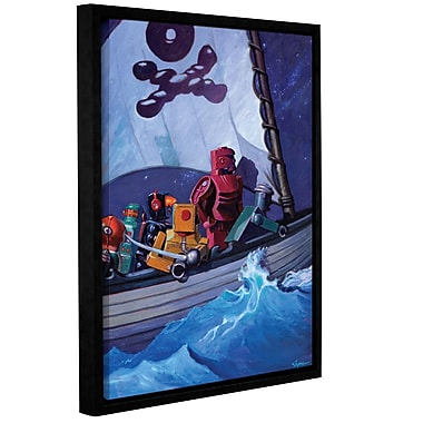 ArtWall 'Robpirates' by Eric Joyner Framed Graphic Art on Wrapped Canvas; 18'' H x 14'' W