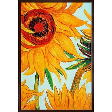 Tori Home Sunflowers by Vincent Van Gogh Framed Painting
