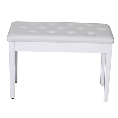 Charlton Home Alsager Piano Upholstered Storage Bench; White