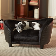 Enchanted Home Pet Ultra Plush Snuggle Dog Sofa; Black