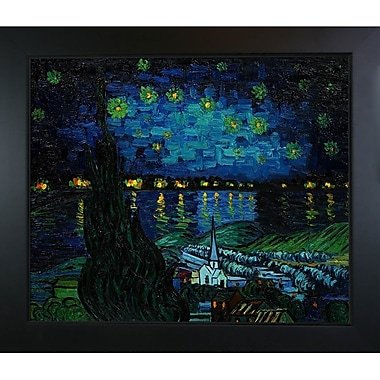 Tori Home Starry Rhone Collage by Vincent Van Gogh Framed Painting