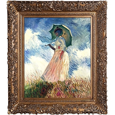 Tori Home Woman w/ a Parasol by Claude Monet Framed Painting Print