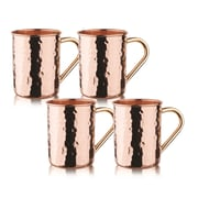 Old Dutch Hammered Solid Straight Sided Moscow Mule Mug (Set of 4) (Set of 4)