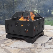 Pleasant Hearth Stargazer Steel Wood Burning Fire pit