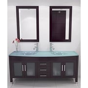 JWH Living Grand Regen 63'' Double Sink Modern Bathroom Vanity Set
