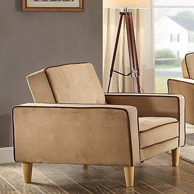 Glory Furniture Eastie Bed Armchair; Saddle Suede