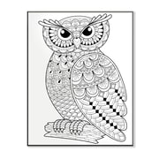Stupell Industries DIY Coloring Wall Plaque Wise Owl on a Log Graphic Art
