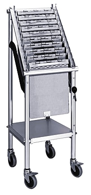 Omnimed Wheeled 1 Tier Chart Carrier - 10 Capacity (263810)