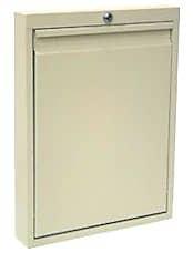Omnimed Slim Line Manual Close Wall Desk - Beige (291569-BG)
