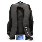 M-EDGE Bolt Backpack w/ Battery, Heather Grey (BPK-B6-PO-HG)