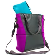 M-EDGE Tech Tote w/ Battery, Black with Purple Pouch (TOT-MT-N-GP)