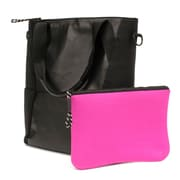 M-EDGE Tech Tote w/ Battery, Black with Pink Pouch (TOT-MT-N-B)