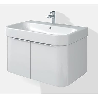 Duravit Happy D 18.75'' Single Wall Mounted Vanity Set; White HG