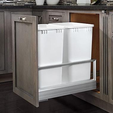 Rev-A-Shelf 6.75 Galllon Plastic Trash Can; White
