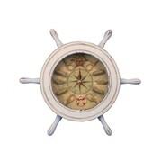Handcrafted Nautical Decor 12'' Ship Wheel Knot Faced Clock