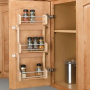 Rev-A-Shelf Cabinet Door Mount 3 Shelf Spice Rack; Small