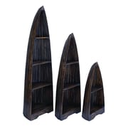 Woodland Imports 3 Piece Accent Shelves Bookcase Set (Set of 3)