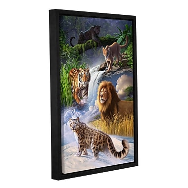 ArtWall 'Big Cats' by Jerry Lofaro Framed Graphic Art on Wrapped Canvas; 36'' H x 24'' W