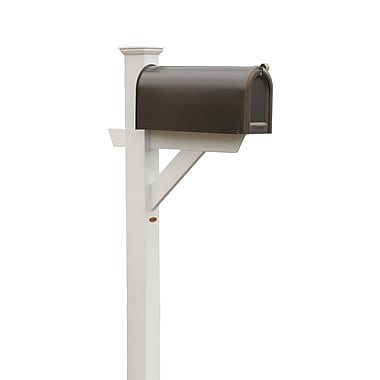 Buyers Choice Phat Tommy 5 Ft. H In-Ground Decorative Post; White