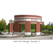 Campus Images NCAA Campus Images Lithograph Photographic Print; Indiana State Sycamores