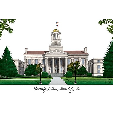 Campus Images NCAA Campus Images Lithograph Photographic Print; Iowa Hawkeyes