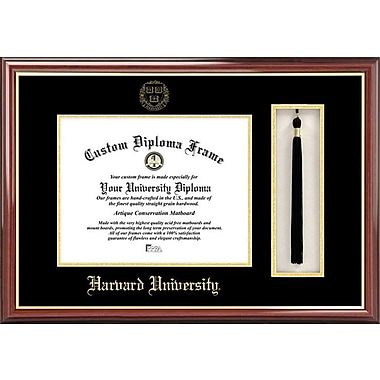 Campus Images NCAA Tassel Box and Diploma Picture Frame; Harvard Crimson