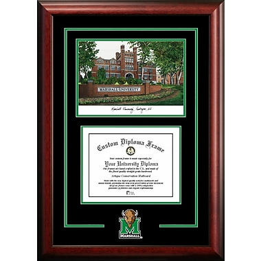 Campus Images NCAA Spirit Graduate Diploma Picture Frame; Marshall Thundering Herd