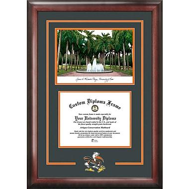 Campus Images NCAA Spirit Graduate Diploma Picture Frame; Miami Hurricanes