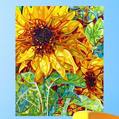 My Wonderful Walls Abstract Sunflower Summer in the Garden Wall Decal; Extra Large