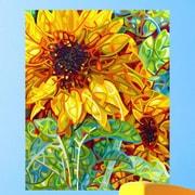 My Wonderful Walls Abstract Sunflower Summer in the Garden Wall Decal; Medium