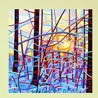 My Wonderful Walls Abstract Winter Forest Sunrise Wall Decal; Large